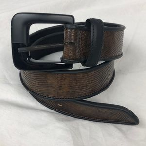 Vintage Carlisle Brown Leather Belt
